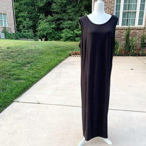 Talbots Black Sleeveless Maxi Dress Plus Size 3X